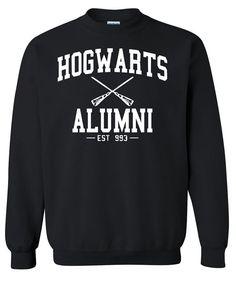 Hogwarts Alumni Harry Potter Crewneck Sweatshirt Clothing Sweater For Unisex Style Funny Sweatshirt x Crewneck x Jumper x Sweater B-057