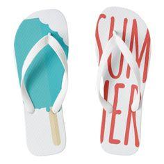 SUMMER TREAT FLIP FLOPS  Cumbertees Clothing Co. original design 'SUMMER TREAT'.