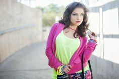 Xavie Saer: Makeup, Styling & Hair, by Jenny @ Dagena.  some colour blocking in CBD Johannesburg