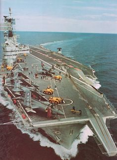 """apostlesofmercy: """" HMS Ark Royal in her prime - circa """" Royal Navy Aircraft Carriers, Hms Ark Royal, Navy Chief, British Armed Forces, Royal Marines, Flight Deck, Royal Air Force, Battleship, Great Photos"""