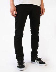 Kr3w K Skinny Denim Jeans - Jet Black - RouteOne.co.uk