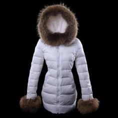 3c77c828ce6c Doudoune Longue Moncler Pas Cher Femme Blanc Winter Jackets Women, Coats  For Women, Air
