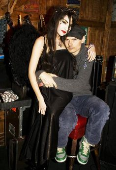 Billy Corgan with Sasha Grey