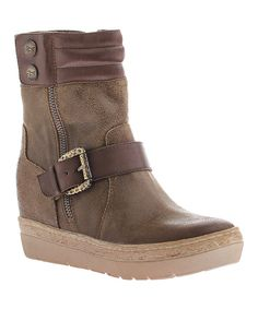 Look at this Dune Gordon Leather Platform Boot on #zulily today!