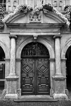 Door, Hotel de Ville, Lausanne, Switzerland.
