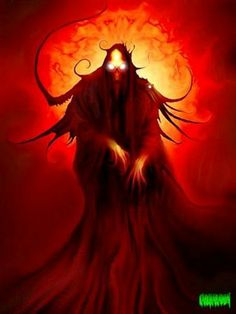 """Abaddon é um demônio da tradição cristã. Ele também pode vir pelo nome de Apollyon em grego que significa """"O Destruidor"""". Ele é visto no livro bíblico do Apocalipse, escrito por S. João. O original hebraico, Abaddon, literalmente significa """"lugar de destruição"""", mas nas escrituras cristãs está descrito como uma pessoa individual. Nestas descrições, ele é conhecido como o Rei do Abismo que detém almas perdidas e comandante de uma praga de gafanhotos viscosa."""