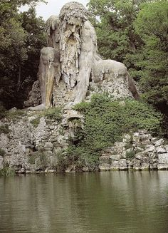 The Appennine Colossus by Giambologna, Pratolino, Tuscany