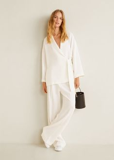 Mango's Fall Arrivals Are Like An Affordable Workwear Starter Kit Big Girl Lingerie, Lingerie Outfits, White Fashion, Look Fashion, Fashion Outfits, Curvy Fashion, Street Fashion, Fall Fashion, Fashion Trends