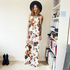Blogger Pretty Sickly looking amazing in her Tropical Floral Jumpsuit fromAshanti Brazil . See more other Fashion Blog  I DRESS MYSELF