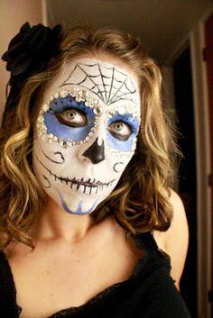 """Dia de Los Muertos"" Sugar Skull Face Paint Tutorial"