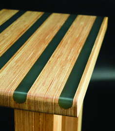 Lynchwood Multi tanstripe resin & birch ply table