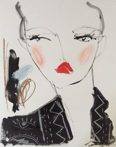 A personal favorite from my Etsy shop https://www.etsy.com/listing/494835065/valentino-jacket-original-mixed-media