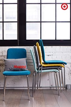 These stacked chairs can be easily stored in any corner, and picking chairs in a variety of hues adds a fun dose of color to any room. Plus, you'll be happy you have extra seating on hand when unexpected guests arrive.