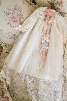 Beautiful vintage christening gown. They did things differently then.