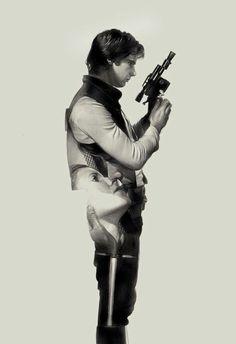Star Wars - Han Solo illustration by Greg Ruth. Star Wars Film, Star Wars Fan Art, Star Wars Han Solo, Star Wars Poster, Star Trek, Chewbacca, Luke Skywalker, Starwars, Mundo Dos Games