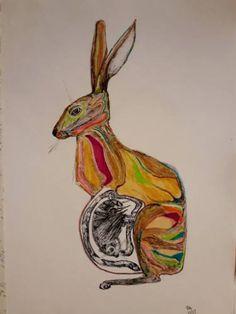 Original Animal Drawing by Leni Smoragdova Animal Drawings, Pencil Drawings, Pastel Pencils, Pastel Drawing, London Art, Marker Art, Animal Fashion, Surreal Art, Art Day