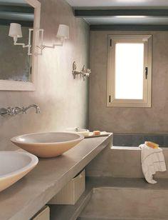 Microcemento at bathroom