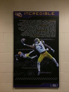 My daughter who works for the LSU football recruiting office took us on a tour