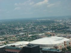 Edward Jones Dome and surrounding countryside, from the Arch