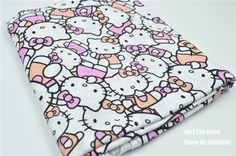 100*160cm Cartoon Hello Kitty  knitted Cotton fabric For Sewing diy Patchwork…