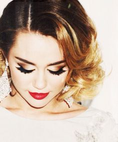 Miley Cyrus... The thing is that I hate Miley's image jow but it is so hard to hate her when she is so beautiful