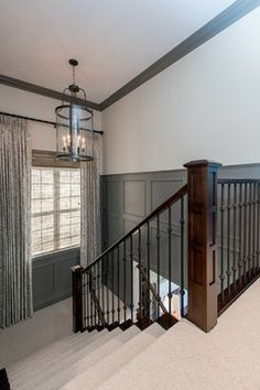 Wood and iron bannister