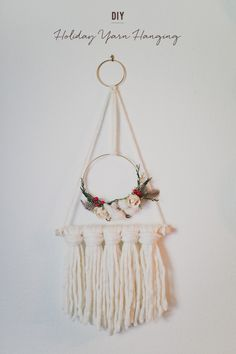 holiday yarn hanging DIY with Afloral