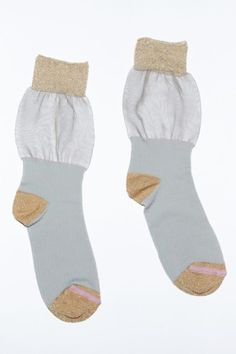 Morghana Lurex Socks with Sheer Panel
