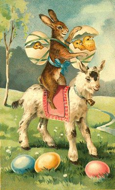 Vintage easter Postcards | As the Clever Crow Flew: Vintage Easter Postcards No. 2