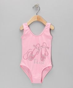 Take a look at this Pink Rhinestone 'Dance' Leotard - Toddler & Girls by Charla's Place on #zulily today!