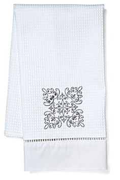 Our second most popular selling Waffle Weave Guest Towel Design is the Corsican Scroll.