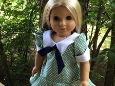 American Girl Doll Clothes-1970's Summer Dress for Your Favorite 18 Inch Doll