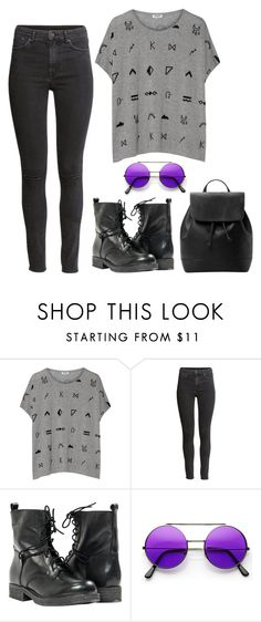 PURPLE by angel534 on Polyvore featuring Kenzo, H&M, MANGO, women's clothing, women's fashion, women, female, woman, misses and juniors