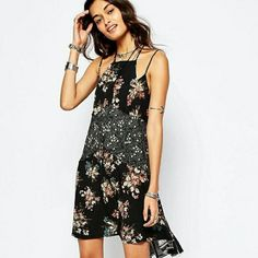 1 DAY SALE! Free People Slip Dress This beautiful Free People slip dress features a high/low design in floral print. NWOT Free People Dresses High Low