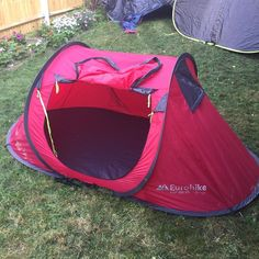 Eurohike POP 200 SD - Red Popup (pop up) tent - Camping / Festivals