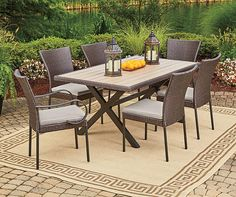 Wilson & Fisher Hyde Park Dining Set Collection | Big Lots $400