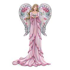 Angel Figurine Graced With Lena Liu's Garden Art
