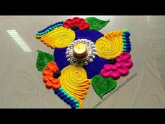 Transcendent Warm interior painting colors home decor,Interior painting ideas with wood trim ideas and Interior painting schemes 2019 tricks. Rangoli Designs Flower, Rangoli Patterns, Colorful Rangoli Designs, Rangoli Ideas, Rangoli Designs Diwali, Diwali Rangoli, Beautiful Rangoli Designs, Indian Rangoli, Simple Illustration