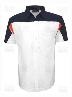 Camisa Racing Polo Shirt Design, Polo Design, Camisa Polo, Office Uniform, Leather Jeans, Workwear, Shirt Designs, Menswear, Mens Fashion