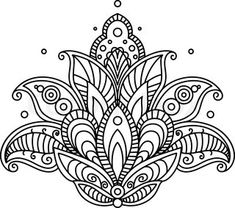 ▷ 1001 + ideas and inspirations for beautiful pictures to paint! - coloring pictures, big lotus, lotus flower with mandala motifs, small circles, tattoo template - Mandalas Drawing, Mandala Coloring Pages, Colouring Pages, Coloring Books, Mandala Design, Mandala Art, Paisley Design, Mini Mandala, Paisley Pattern