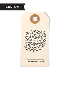 Silent Night Customized Holiday Gift Tag Stamp - adorable for Christmas gifts!