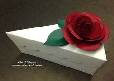 Cake Slice Boxes Cake Box Cake Slice Favors Cake Boxes Cake Slice Favors With Red Handmade Roses  on Etsy, $42.00 CAD Cake Slice Boxes, Box Cake, Wedding Cake Boxes, Wedding Favors, Wedding Ideas, Bridal Shower Favours, Cricut Cake, Bridal Decorations, Fake Cake