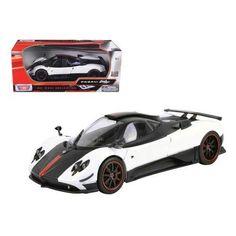 Pagani Zonda 5 Cinque White/Black 1/18 Diecast Car Model by Motormax