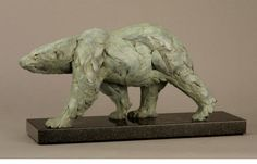 Bart Walter Striding Polar Bear Study Bronze, edition of 10 6 1/8 x 3 7/8 x 12 5/8 inches  Gerald Peters Gallery, Santa Fe