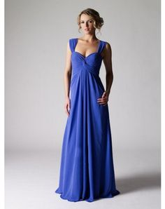 2012 Spring Style Sheath / Column Straps Ruffles Sleeveless Floor-length Chiffon Prom Dresses / Evening Dresses (SZ019446 )