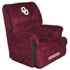 Oklahoma Sooners Big Daddy Reclining Chair w Deep Foam Support