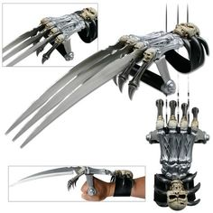 Skull & Bones Gauntlet Style Hand Claws