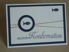 """Konfirmationskarte """"Fisch"""" von frenileins auf DaWanda.com"""