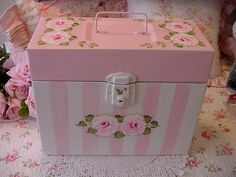 Pretty Metal File Box~HP Roses~Shabby to Chic