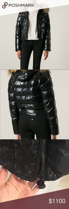 """Moncler Alpin padded black jacket 'Alpin' padded jacket  It's a 1, however it fits a regular Small, as I usually wear Small and it fits me perfectly. I am 5'3"""" and weight 127lbs.   Black feather down 'Alpin' padded jacket from Moncler featuring a drawstring beige racoon fur hood, a zip and press stud fastening, long sleeves, side pockets, a quilted effect and a ribbed hem.   As you can see in the picture it has been nicely taken care of, and worn for only a month. The fur can hood can be…"""